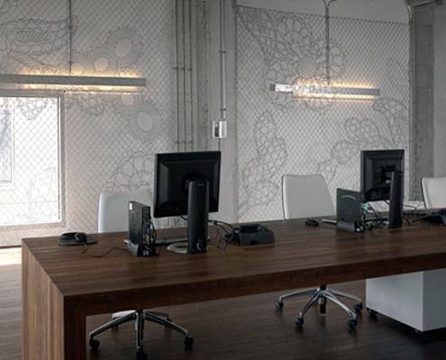 Décoration design et agencement intérieur pour bureaux, open space ou siège social.
