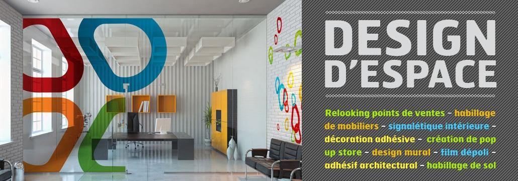 Agencement intérieur de magasins, de bureaux et d'agences.