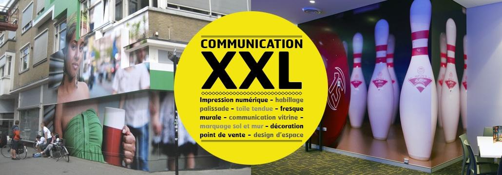 Des impressions grand format pour une communication visuelle visible.