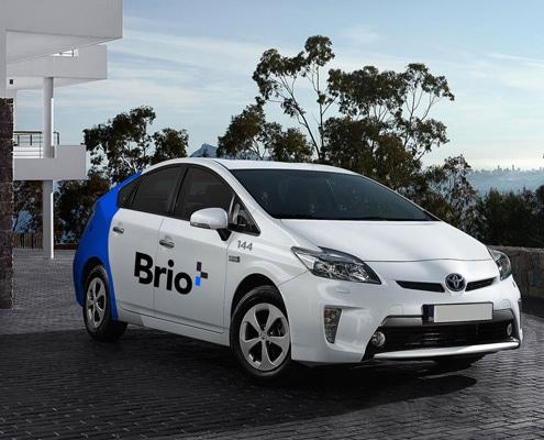 Marquage voiture pouvant être effectué sur des véhicules de société répartis sur plusieurs sites en France.