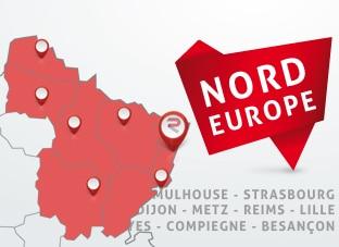 Nous disposons de poseurs d'adhésif à Strasbourg, Metz, Lille ou Dijon et intervenons en Belgique, en Suisse et au Luxembourg.